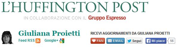 Huffington Post Giuliana Proietti