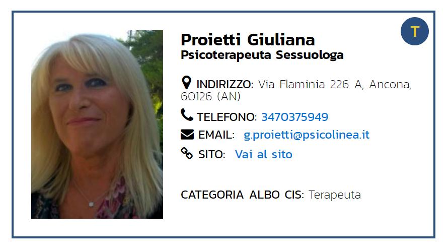 Dr. Giuliana Proietti Psicologa